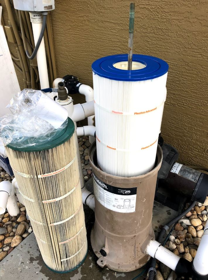 Pool filter replacement in Mesquite, TX